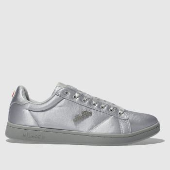 ELLESSE LIGHT GREY ANZIA SATIN TRAINERS