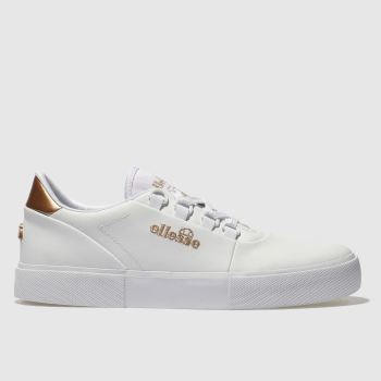 Ellesse White Alto D-Lux Leather Womens Trainers