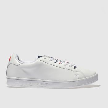 ELLESSE WHITE CAMPO LEATHER TRAINERS