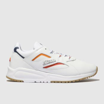 Ellesse White & Navy Contest Leather Womens Trainers
