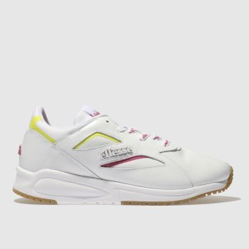 Ellesse White & Pink Contest Leather Womens Trainers