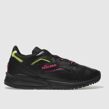 Ellesse Black & pink Contest Leather Womens Trainers from Schuh