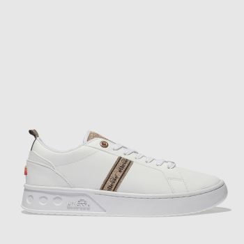 Ellesse White & Gold MEZZALUNA TP LEATHER Trainers