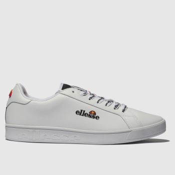 ac542a28f9fc Ellesse White Campo Emb Womens Trainers