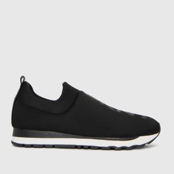 DKNY Black & White Jadyn Slip On Sneaker Womens Trainers