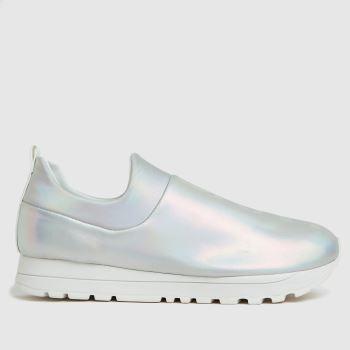DKNY Silver Jadyn Slip On Sneaker Womens Trainers
