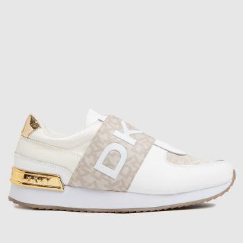 DKNY White Marli Slip On Sneaker Womens Trainers