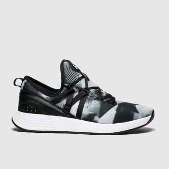 Under Armour Black & White Breathe Print Womens Trainers