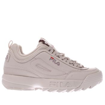 FILA PALE PINK DISRUPTOR LOW TRAINERS