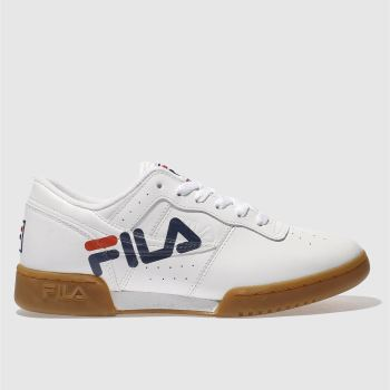 Fila White Original Fitness Logo Womens Trainers