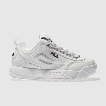 Fila White Disruptor Ii Premium c2namevalue::Womens Trainers