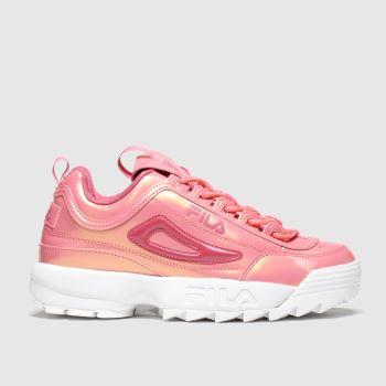 Fila Pink Disruptor Ii Liquid Luster Womens Trainers