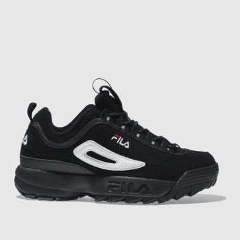 Fila Black Disruptor Ii Womens Trainers