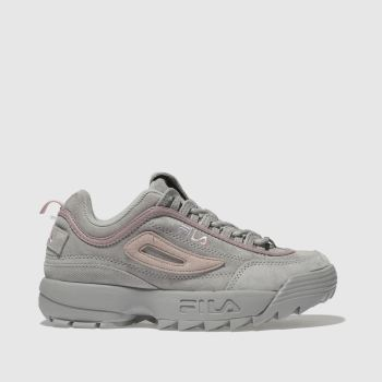 Fila Grey Disruptor Ii Womens Trainers