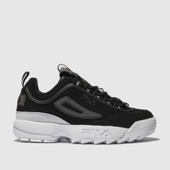 Fila Black & Purple Disruptor Ii Premium Womens Trainers