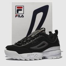 969617a3df1 womens black & purple fila disruptor ii premium trainers | schuh