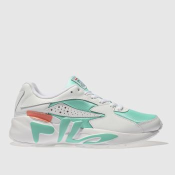 FILA WHITE & GREEN MINDBLOWER TRAINERS