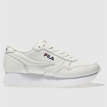 Fila White Orbit Zeppa Low Womens Trainers fc8a2194b4ae