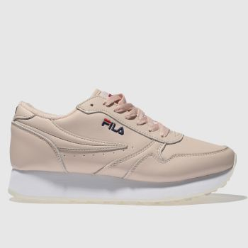 Fila Pale Pink Orbit Zeppa Low Womens Trainers