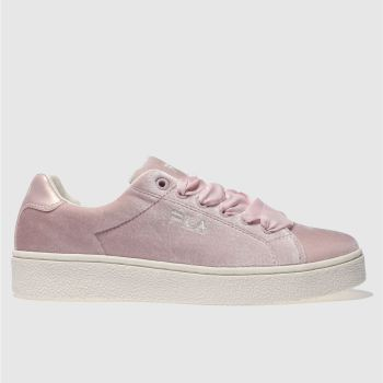 Fila Pale Pink UPSTAGE V LOW VELVET Trainers