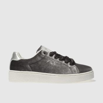 FILA GREY UPSTAGE V LOW VELVET TRAINERS