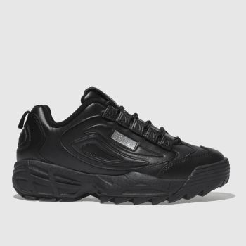Fila Black Disruptor Iii Premium Womens Trainers