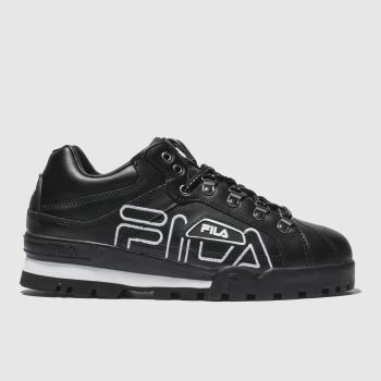 Fila Black & White Trailblazer Leather Womens Trainers