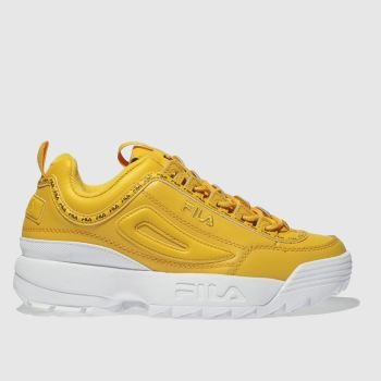 Fila Yellow Disruptor Ii Premium Repeat Womens Trainers