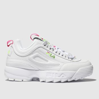 Fila White Disruptor Ii Womens Trainers