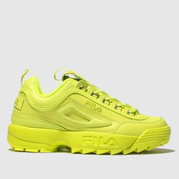 Fila Lime Disruptor Ii Premium Womens Trainers
