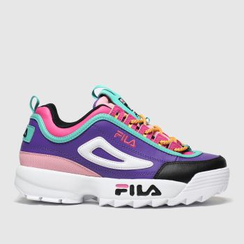 Fila Purple & Pink Disruptor Trek Lace c2namevalue::Womens Trainers