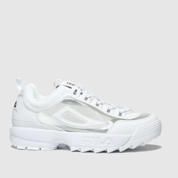 Fila White Disruptor Ii Clear Womens Trainers