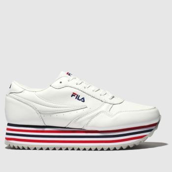 Fila White & Navy Orbit Zeppa Womens Trainers