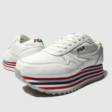fila white & navy orbit zeppa trainers