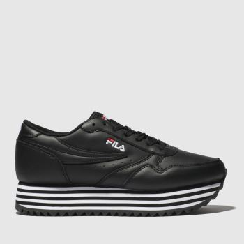 Fila Black & White Orbit Zeppa Womens Trainers