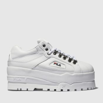 Fila White Trailblazer Wedge Womens Trainers