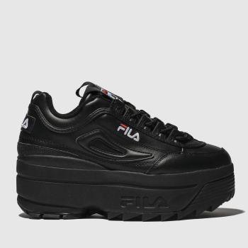 Fila Black Disruptor Ii Platform Womens Trainers