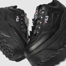 Damen fila Schwarz Disruptor Ii Platform Sneaker