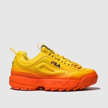 Fila Orange Disruptor Ii Premium Fade Womens Trainers