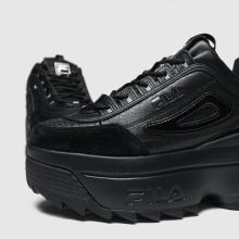 Damen fila Schwarz Disruptor Ii Croc Platform Sneaker