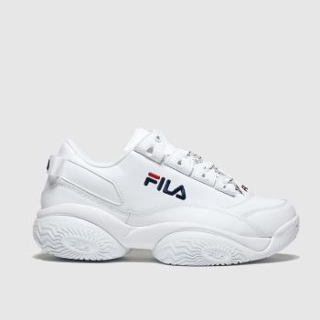 Fila White & Navy Provenance Womens Trainers
