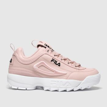 Fila Pale Pink Disruptor 3d Embroider Womens Trainers#