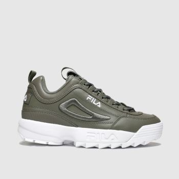 Fila Khaki Disruptor 3d Embroider Womens Trainers