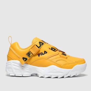 Fila Yellow Fast Charge Womens Trainers