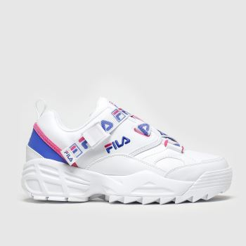 Fila White & Pink Fast Charge Trainers
