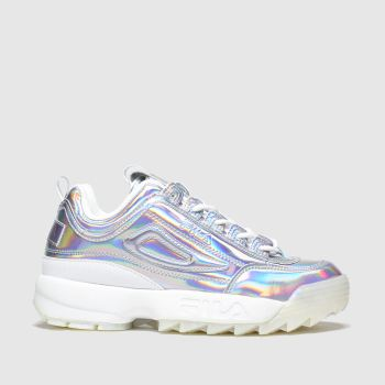 Fila Silver Disruptor Ii Iridescent Womens Trainers