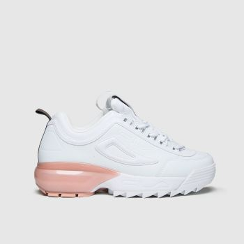 Fila White & Pink Disruptor 2a Womens Trainers