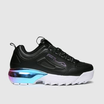 Fila Black & Purple Disruptor 2a Chrome Trainers