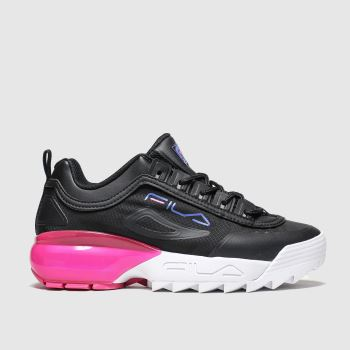 Fila Black & pink Disruptor 2a Womens Trainers