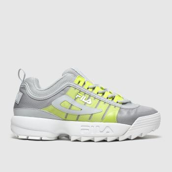 Fila Light Grey Disruptor Ii Monomesh c2namevalue::Womens Trainers